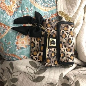 Betsy Johnson purse with coin wallet